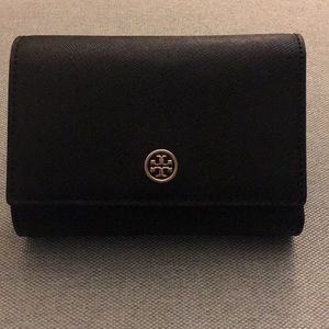Authentic Tory Burch trifold snap closure wallet